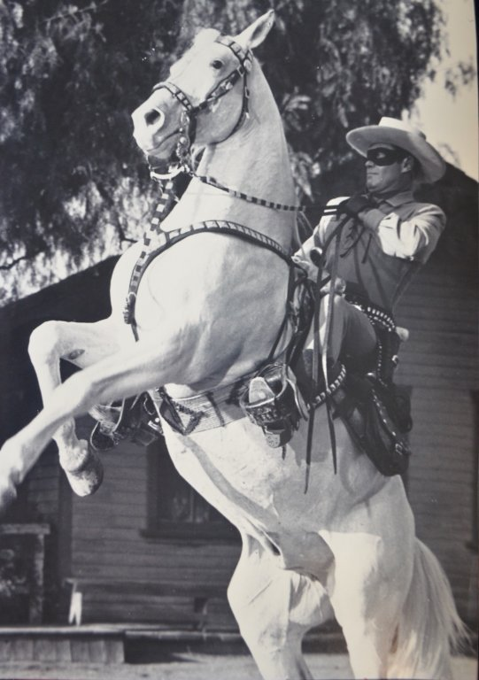 Lot of Two Clayton Moore The Lone Ranger Photo Prints - 2