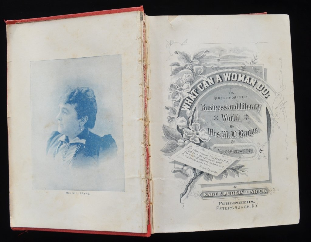 1st Edition What Can A Woman Do Book Rayne 1893 - 3