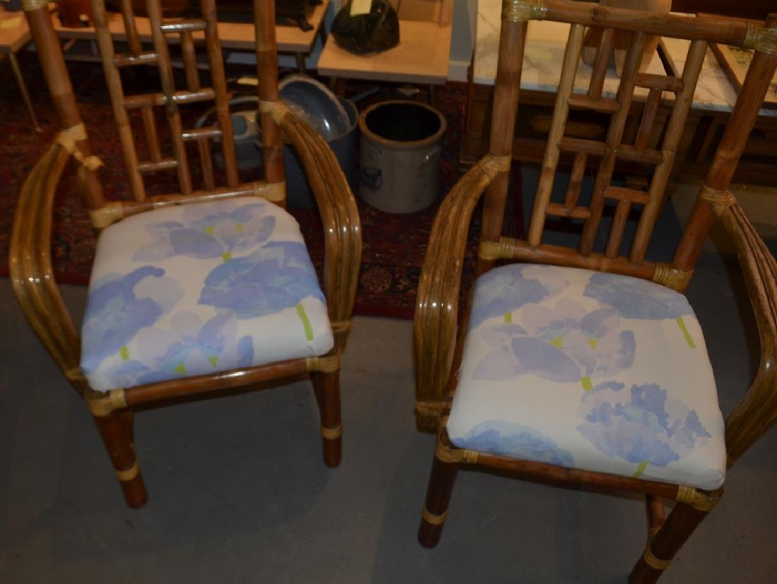 Pair of Bamboo Chairs - 3