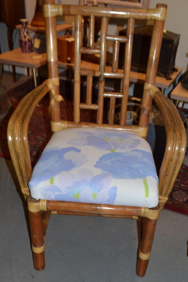 Pair of Bamboo Chairs - 4