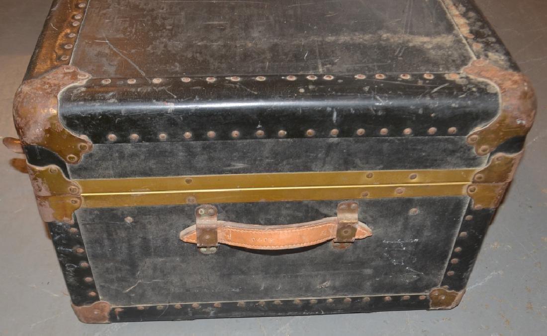 Vintage Monogrammed Steamer Trunk - 3