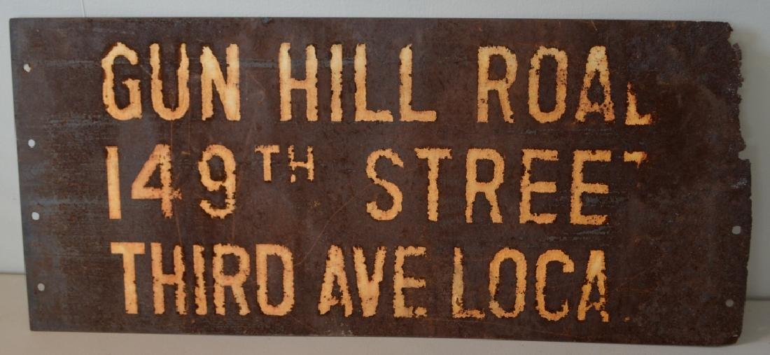 Vintage New York City Subway Sign