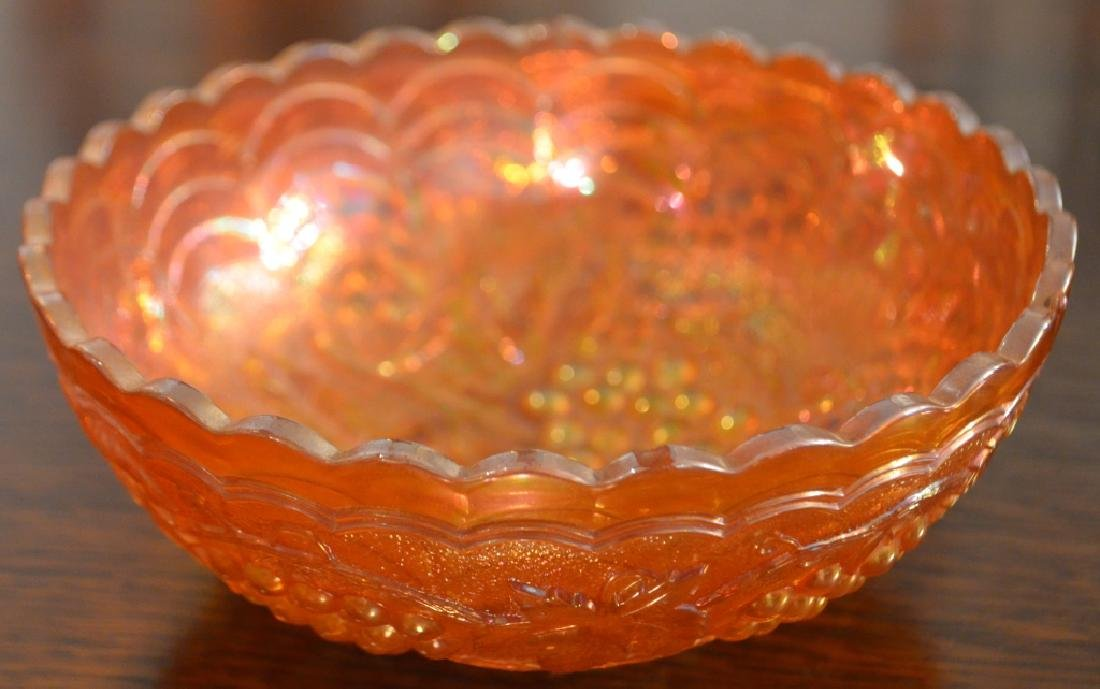 Lot of  Carnival Glass Bowls and Vases - 2