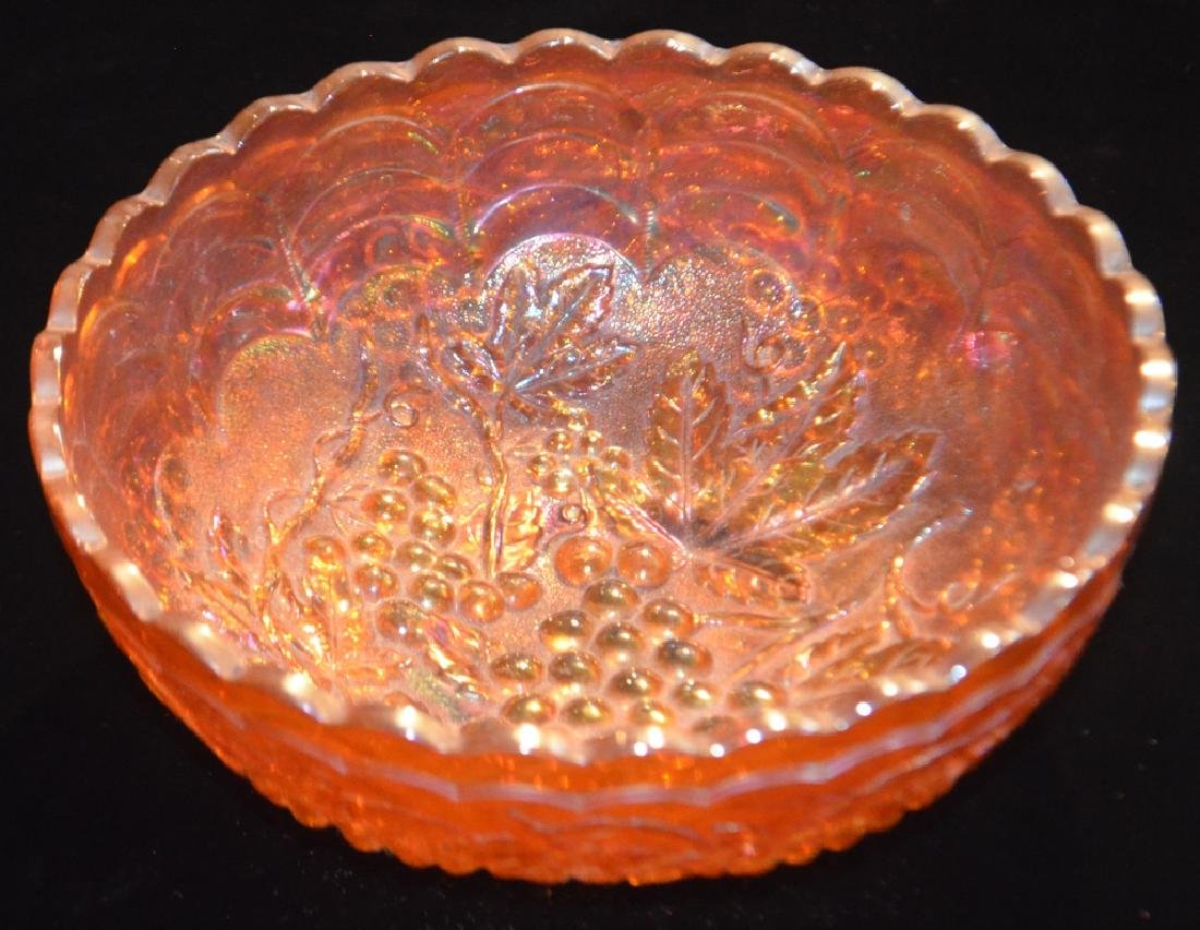 Lot of  Carnival Glass Bowls and Vases - 3