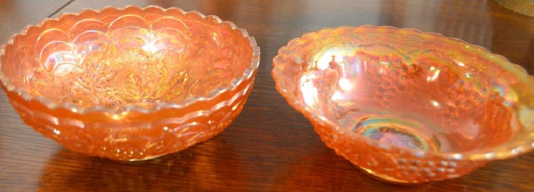 Lot of  Carnival Glass Bowls and Vases - 4