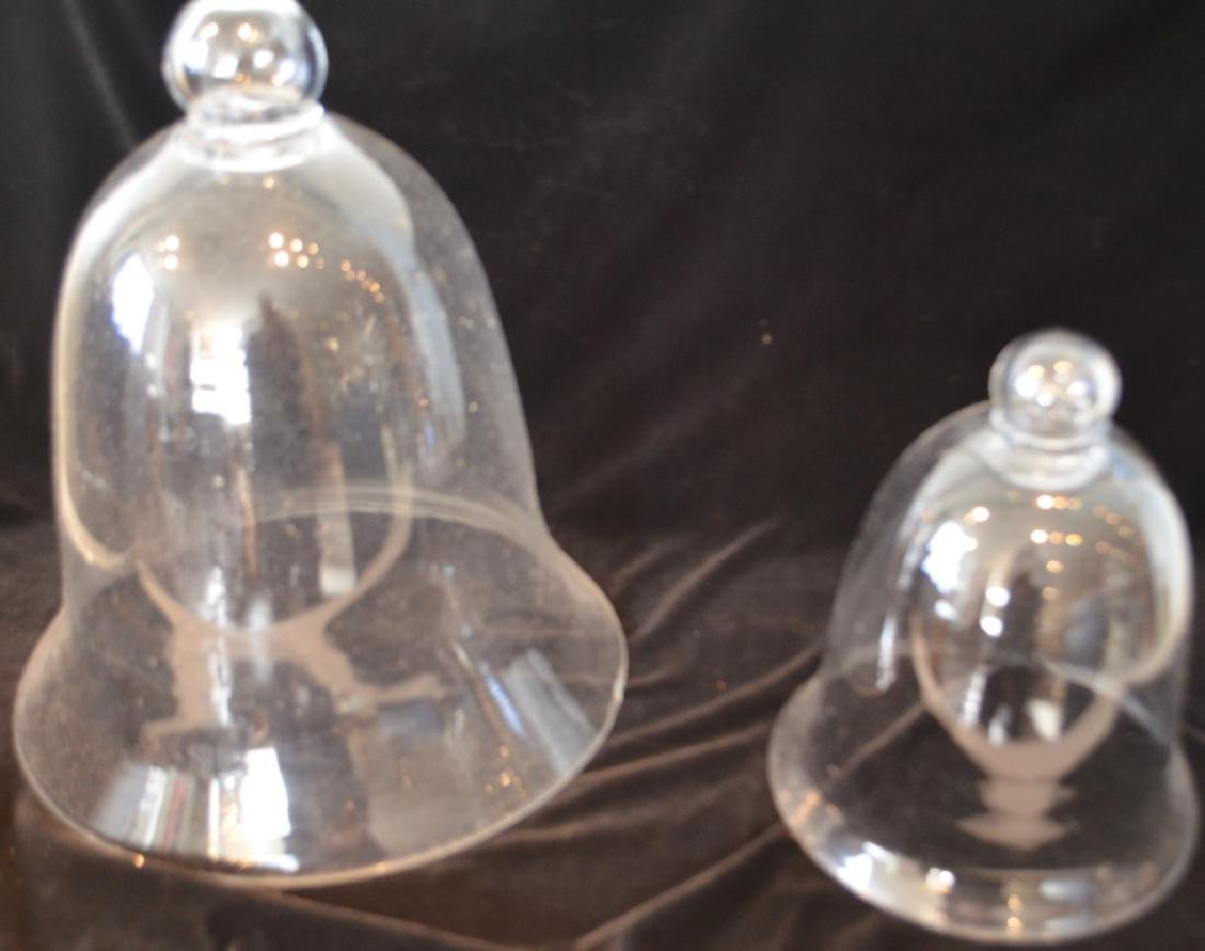 Pair of Antique Glass Covers Domes - 4
