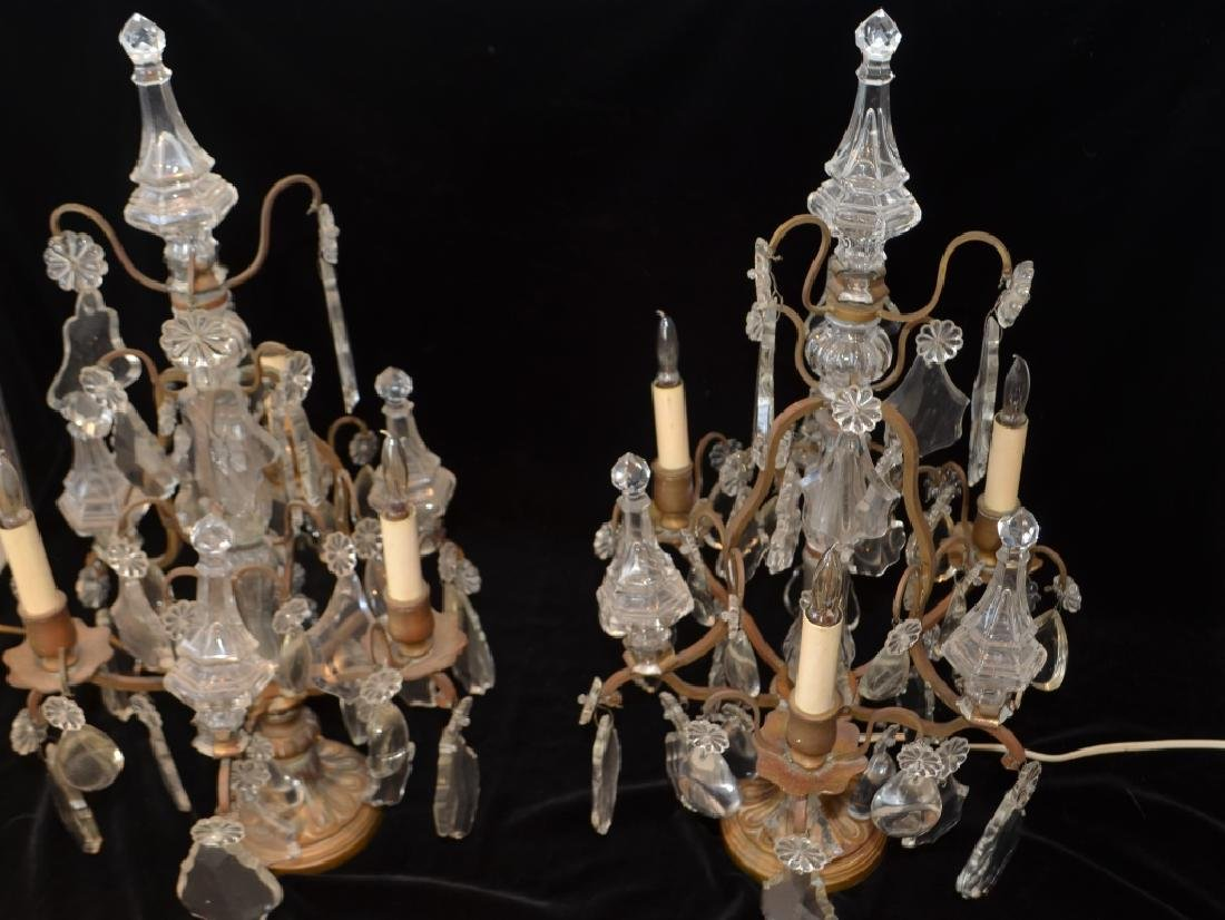 Antique Victorian Crystal Girandalas