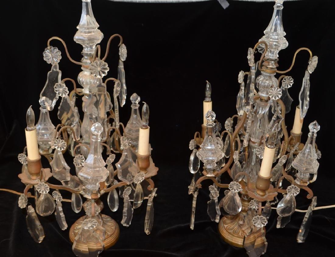 Antique Victorian Crystal Girandalas - 2