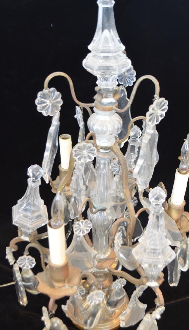 Antique Victorian Crystal Girandalas - 3