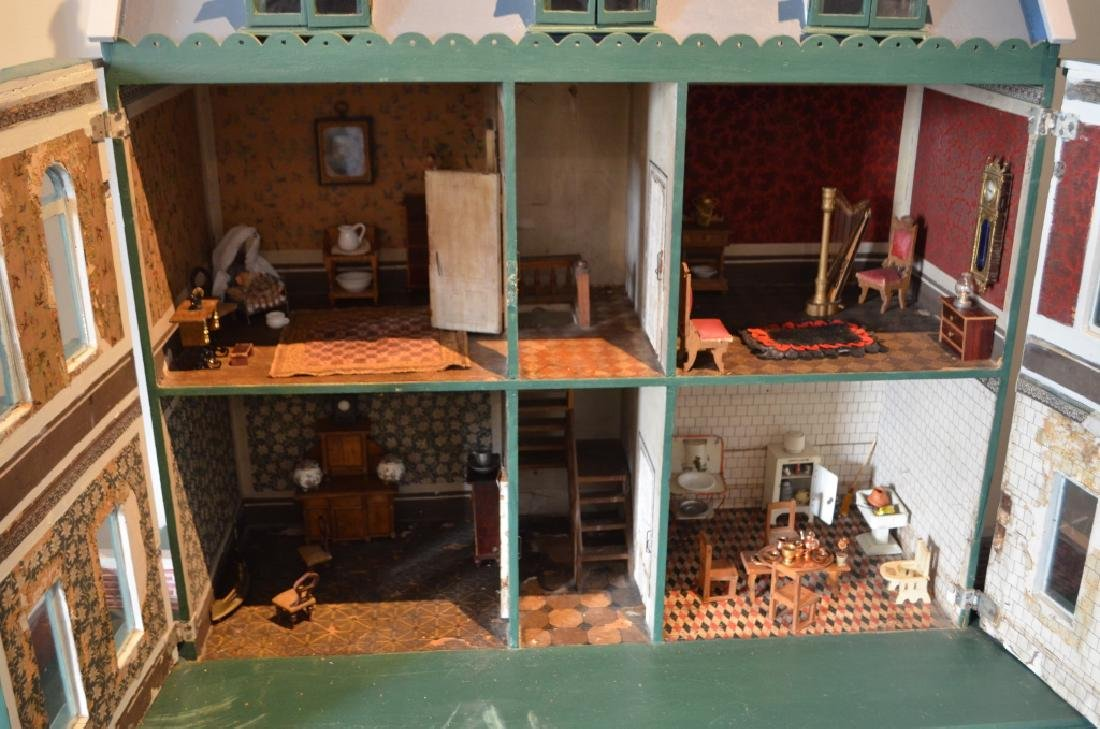 Early 1900's Dollhouse with Furniture - 2