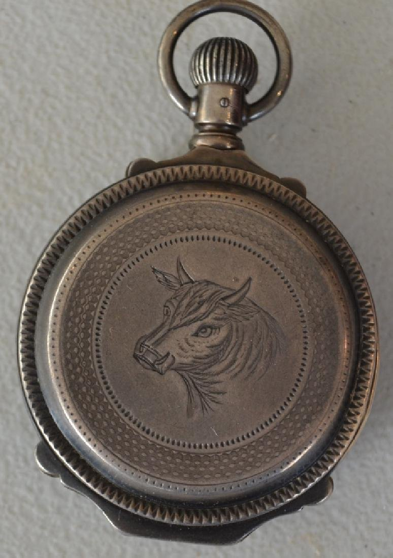 Late 1800s Elgin Natl Watch Co. Pocket Watch - 4