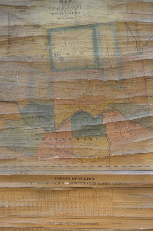 1839 Scroll Map of Ithica and Fulton Cty New York - 2