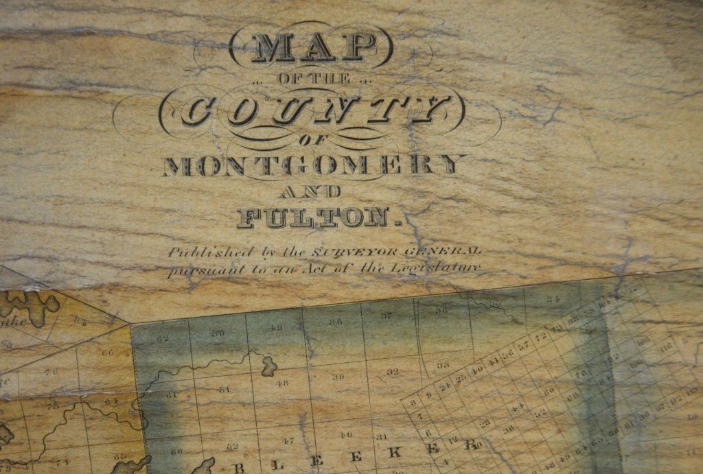 1839 Scroll Map of Ithica and Fulton Cty New York - 4