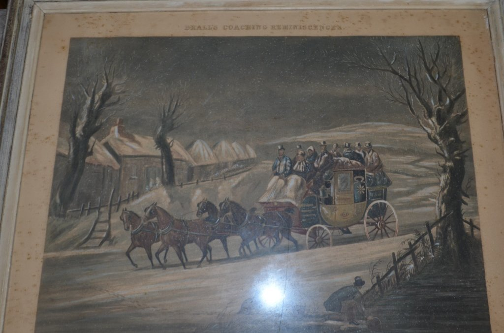 19th Century Engraving Winter Going North
