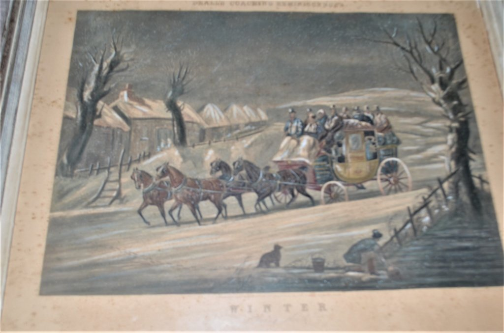 19th Century Engraving Winter Going North - 2