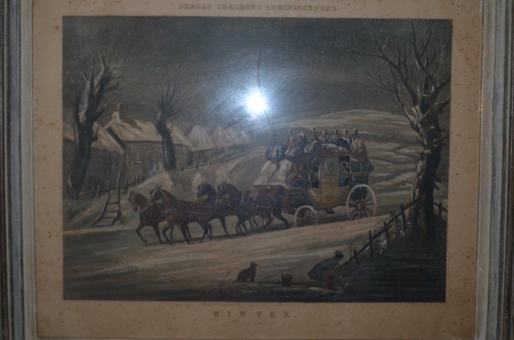 19th Century Engraving Winter Going North - 4