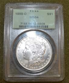 Morgan Silver Dollar 1888-O MS64