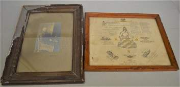 Two World War 1 Framed items