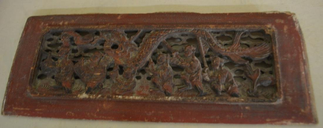 Antique Hand Carved Chinese Wood Block