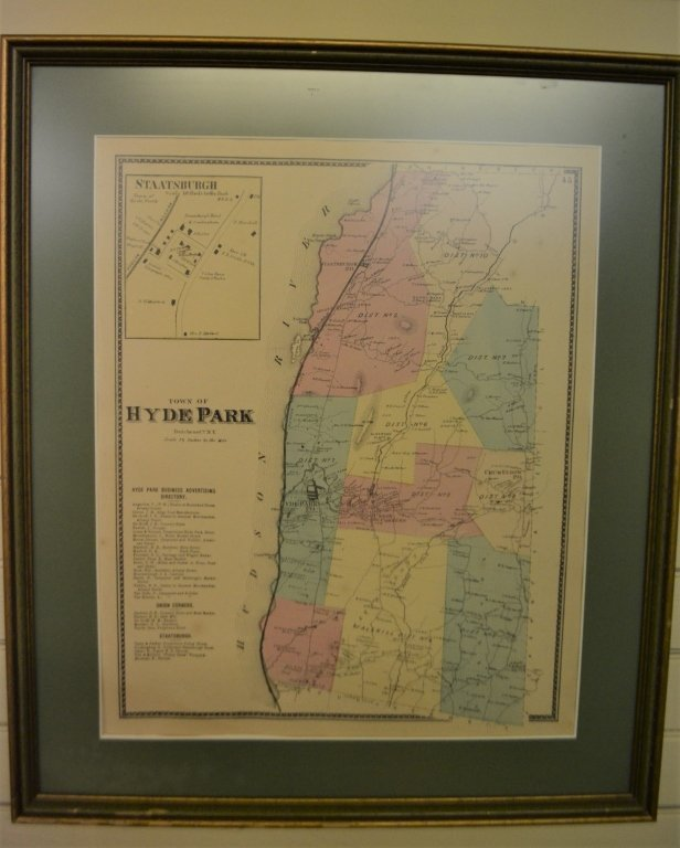 1867 Map of Hyde Park, NY