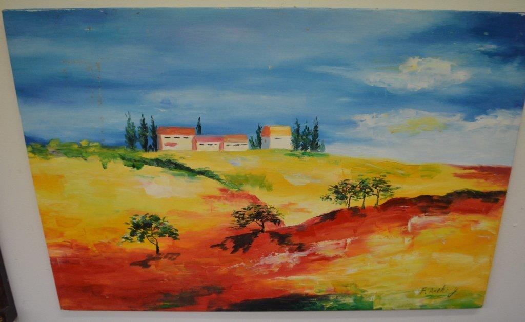 Landscape Art Signed F. Anthony