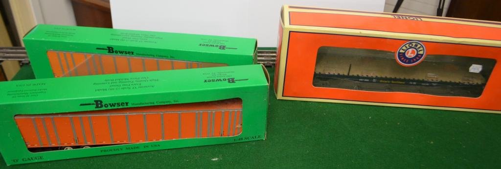 Lionel and Bowser Boxed Freight Cars
