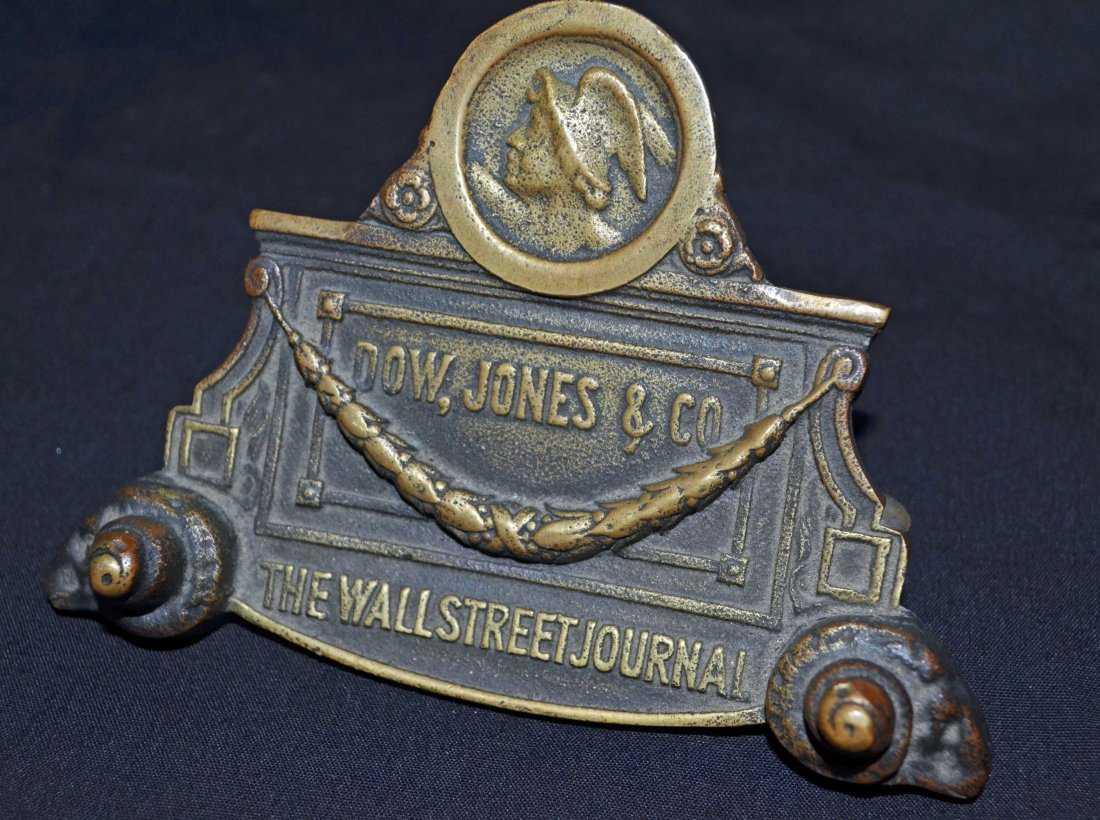 Bronze Dow Jones Co Holding Clip For Ticker Clipboard