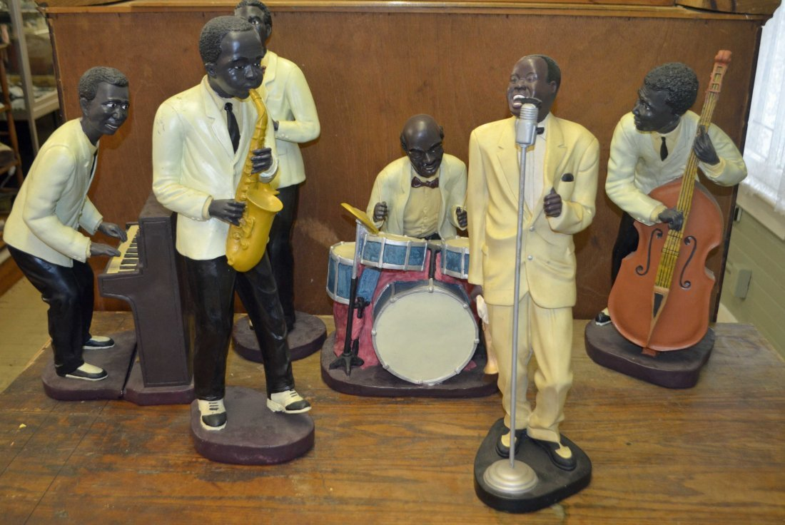 Louis Armstrong 6 Piece Band Statuettes