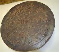 Vintage New Orleans Water Meter Cover