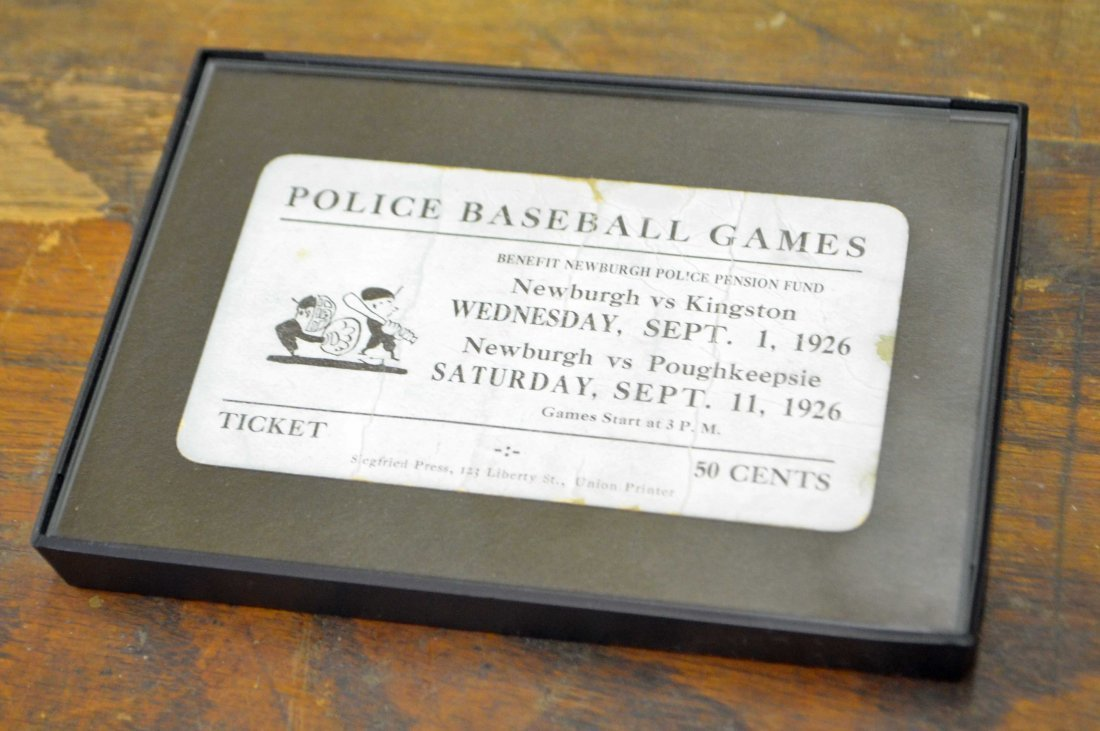 1926 Police Baseball Game Ticket
