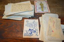 Lot of World War 2 Soldiers Letters