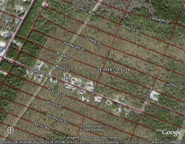3: LAWRENCE TOWNSHIP (CUMBERLAND CO., NJ) 75' x 150'.