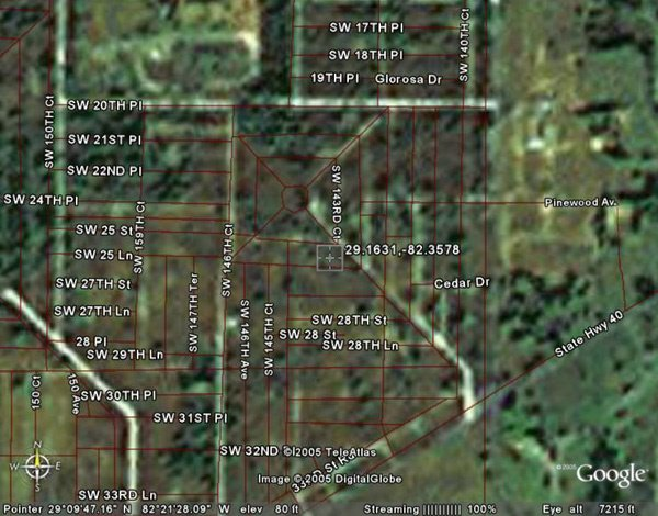 24: OCALA AREA (MARION CO., FL) 74' x 135'.