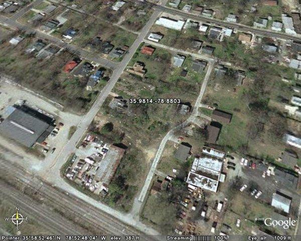 6023: CITY OF DURHAM (DURHAM CO., NC) 87' x 132'.
