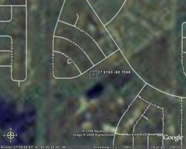 18. PALM BAY AREA (BREVARD CO., FL) 80' x 125'.