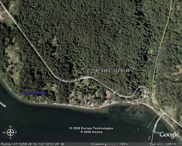 105041: 41. VASHON ISLAND (KING CO., WA) 3 acres.