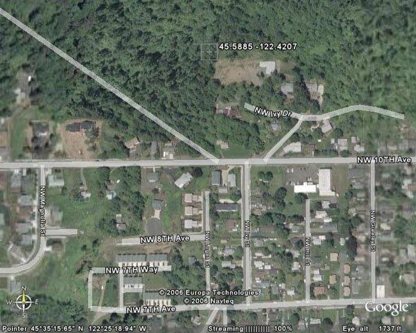 105147: 147. CITY OF CAMAS (CLARK CO., WA) 101' x 335'.