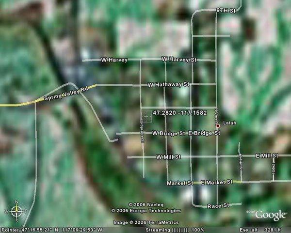 105169: 169. TOWN OF LATAH (SPOKANE CO., WA) 110' x 150