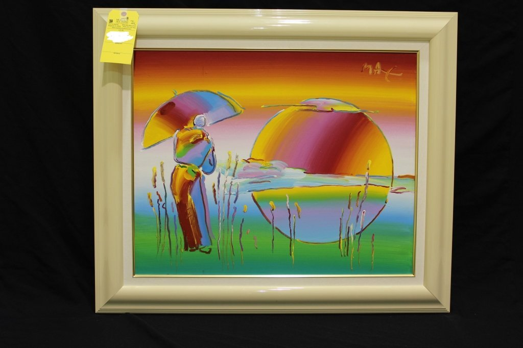 PETER MAX (B. 1937), UMBRELLA MAN IN RAINBOW BLEND