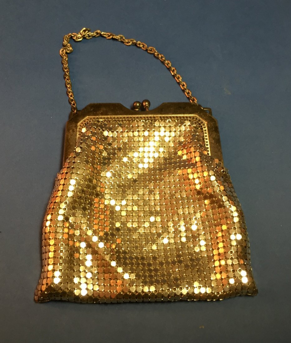 Vintage Whiting and Davis Mesh Silver Purse