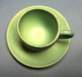 Vintage Original Signed Van Briggle Teacup And Saucer