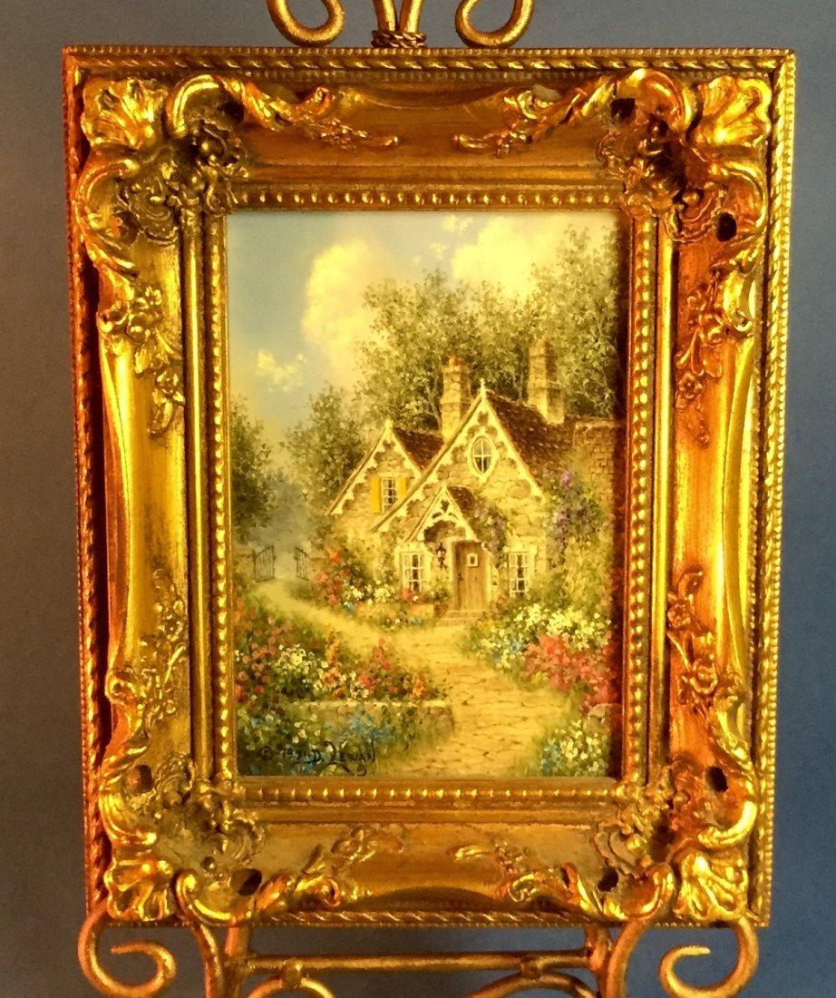 """Old Stone Cottage"" by Artist Dennis Patrick Lewan"