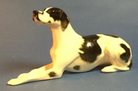 Russian Ceramic Spotted Great Dane Dog