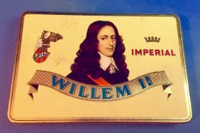 Vintage Willem Ii Imperial Tobacco Tin Holland