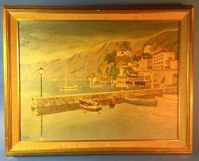 """ascona On Lake Maggiore"" Oil Painting Garman Morris"