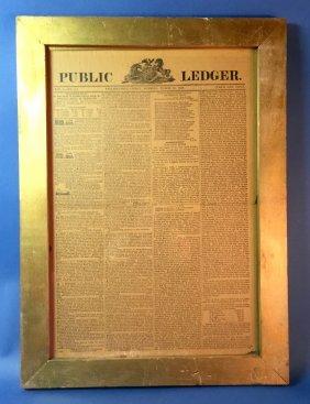 Philadelphia Public Ledger Newspaper March 25, 1836