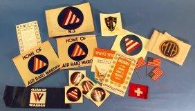Lot Of Vintage Wwii Air Raid Warden Ephemera