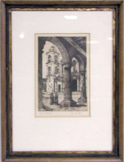 "2009: Jo Gross etching ""The Mission"""