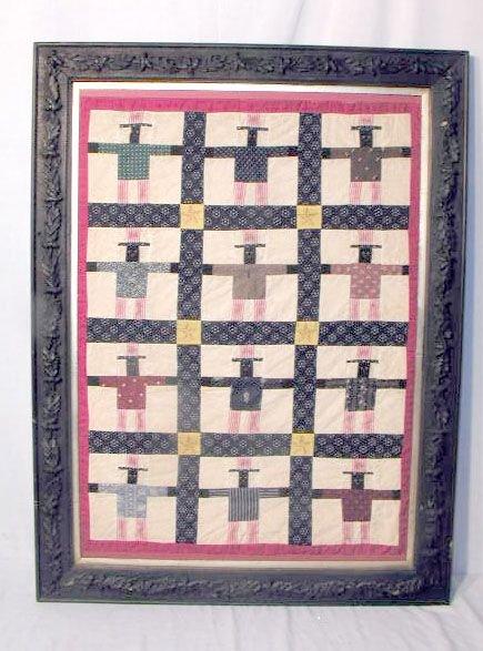 2012: Black Americana Framed Quilt Top