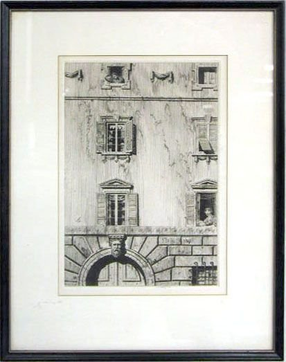 2013: Frederick Garrison Hall etching